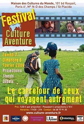 Voyage à vélo : festival Culture-Aventure 2009.