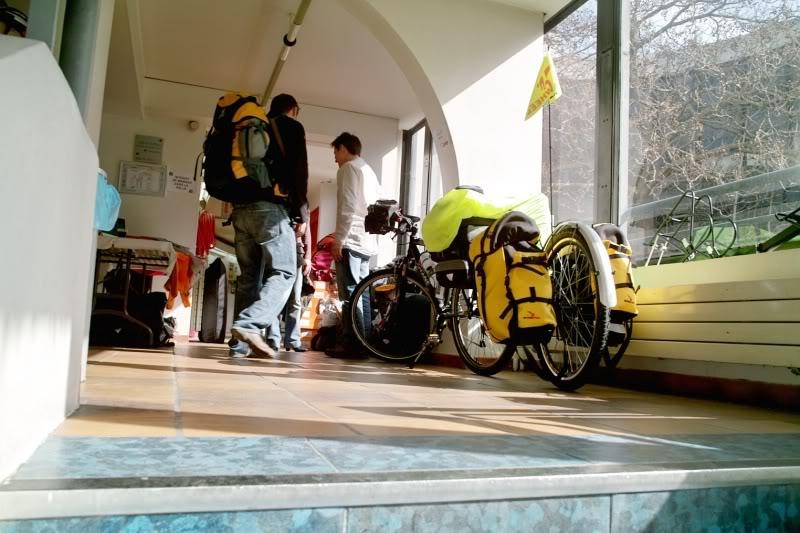 Cyclo-randonnée : festival du voyage à vélo 2009, organisé par le CCI.