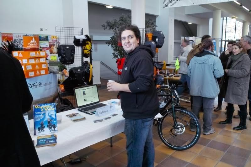 Cyclo-randonnée : festival du voyage à vélo 2010, organisé par le CCI.