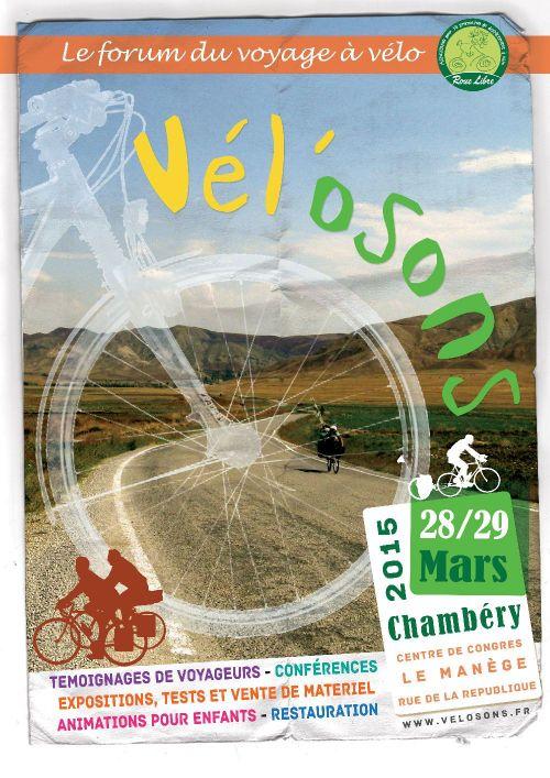 Festival du voyage à vélo de Chambery.