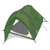 Tente ultra-l�g�re Vaude Taurus Ultralight (vert)