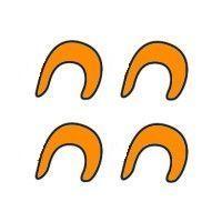 Set de réducteurs 10 mm. pour crochets QMR (orange)