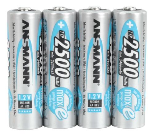 Boite de 4 piles AAA rechargeable Ansmann à faible auto-décharge.