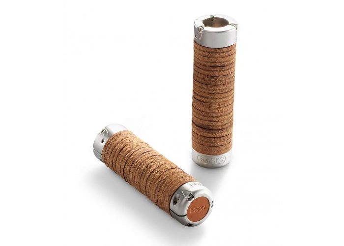 Paire de poignées Brooks Plump Leather Grips.