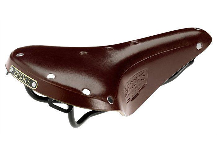 Selle homme Brooks B17 Standard en cuir pour le voyage à vélo, couleur brown.