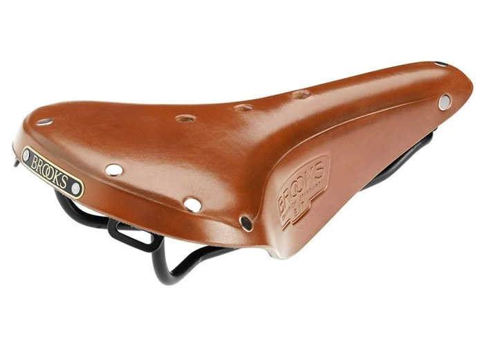 Selle homme Brooks B17 Standard en cuir pour le voyage à vélo, couleur honey.