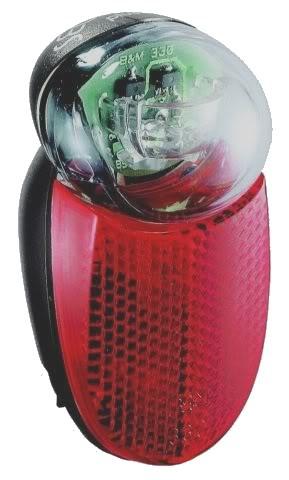 Lampe arrière Busch & Müller à LED pour garde-boue de vélo.