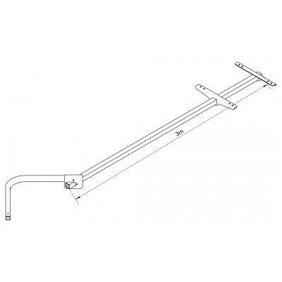 Timon 3 mètres pour remorque Y-Frame