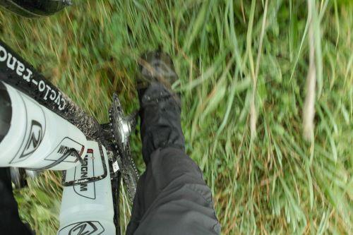 Sur-chaussures de vélo étanches.