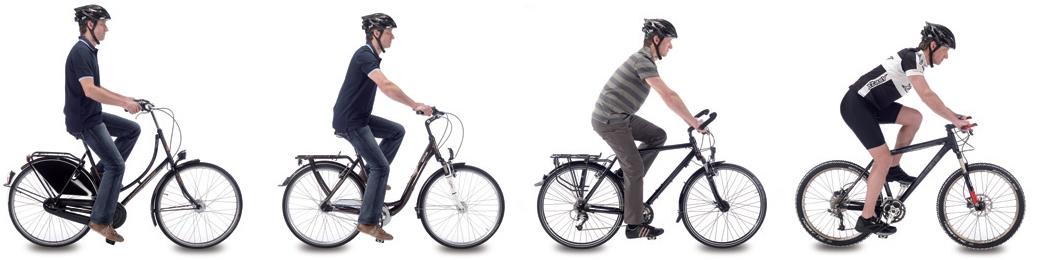 Position à vélo.
