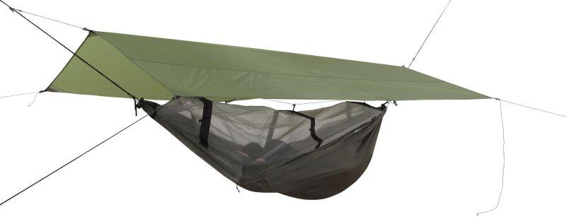 Set Exped Scout Hammock Combi UL avec tarp et hamac.