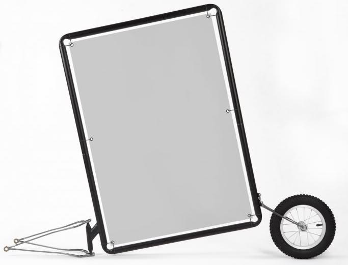 Remorque vélo Extrawheel publicitaire
