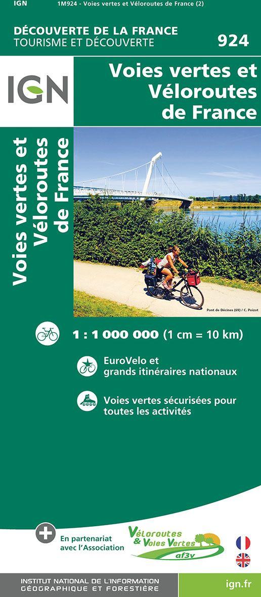 Carte IGN 903 - Itinéraires de grande randonnée en France.