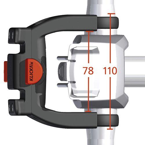 Support guidon Klickfix pour vélo électrique.