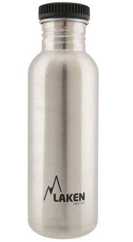 Bidon inox Laken Basic Steel 750 ml (bouchon plastique).