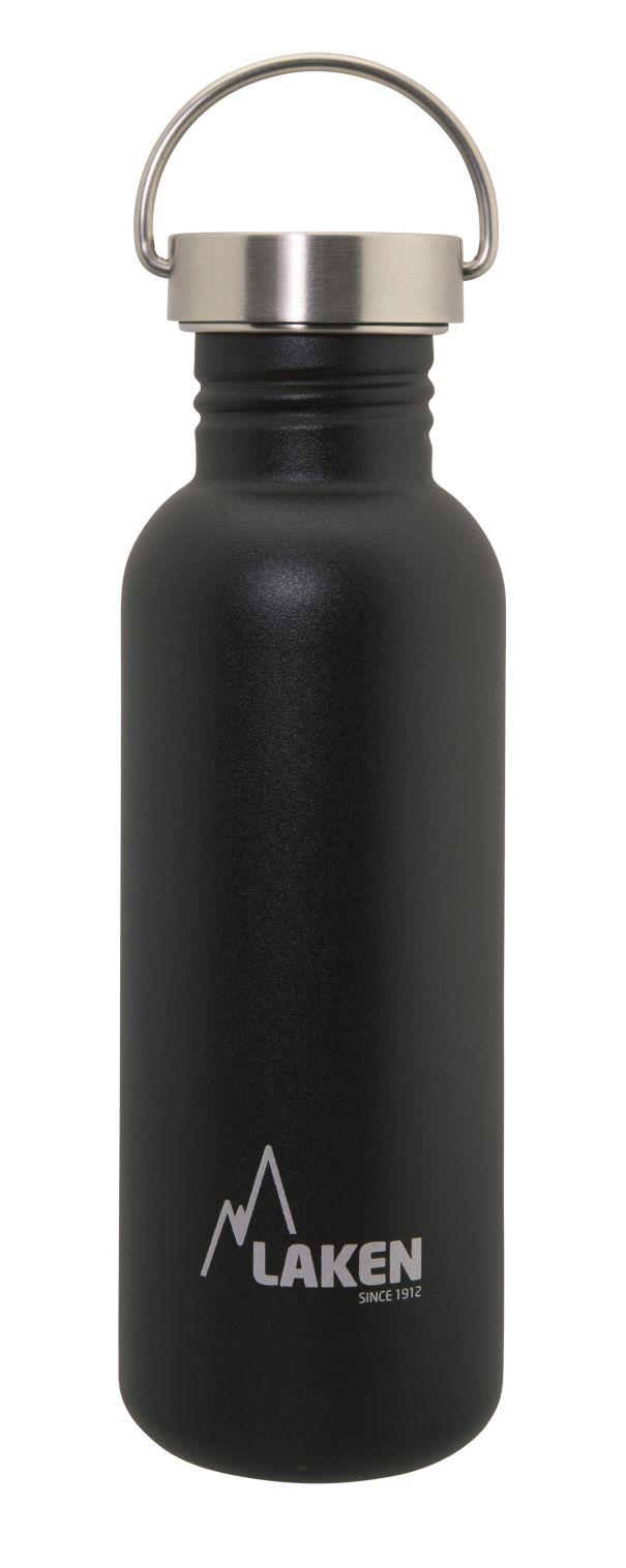 Bidon inox Laken Basic Steel 750 ml (bouchon métal).