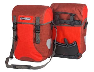 Sacoche de vélo Ortlieb Sport Packer Plus de couleur rouge chili.