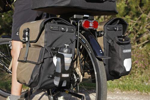 Poche extérieure étanche pour sacoche de vélo Ortlieb.