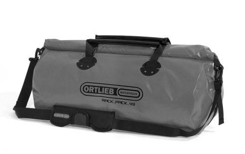 Sac étanche Ortlieb Rack-Pack de couleur grise.