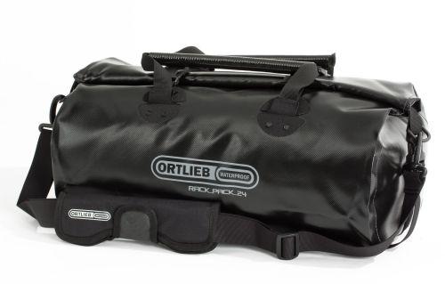 Sac étanche Ortlieb Rack-Pack de couleur noire.