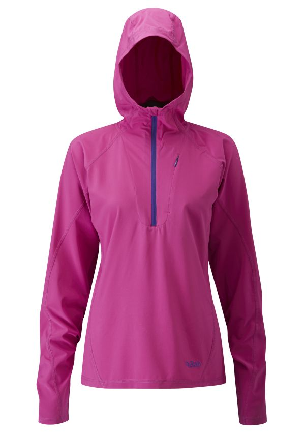 Pull coupe-vent Rab Aurora Pull-on (femme) en couleur Peony