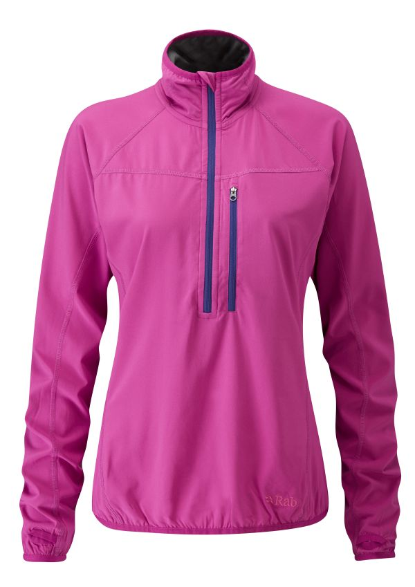 Pull coupe-vent femme Rab Ventus Pull-on couleur Peony