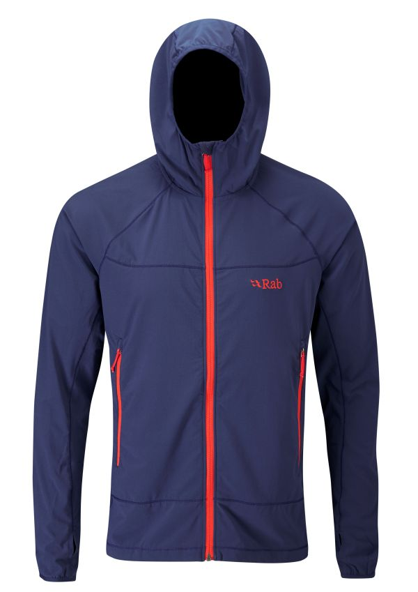 Veste coupe-vent Rab Ventus Jacket en couleur Twilight