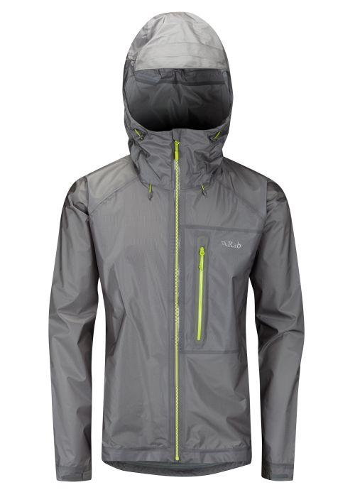 Veste étanche Rab Flashpoint Jacket en couleur Zinc