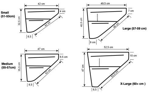 Sacoche de cadre Revelate Design Ripio Frame Bag (dimensions).