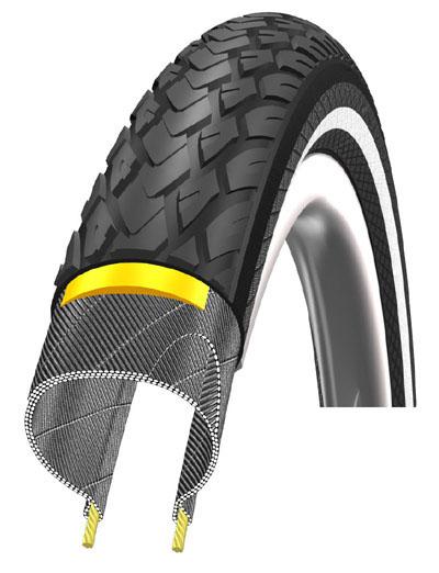Marathon : pneu de vélo Schwalbe Nouveau Marathon pour VTT.