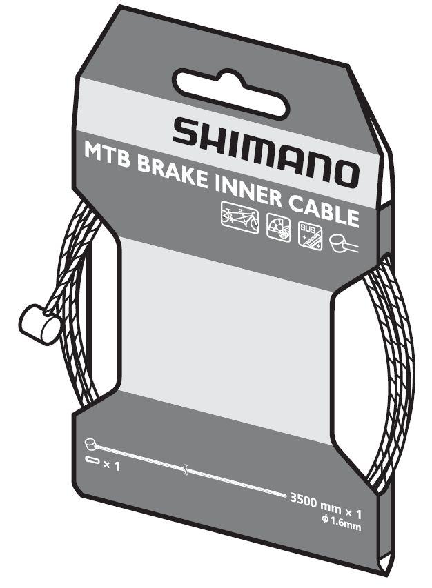 Câble de frein VTT Shimano SUS pour tandem.