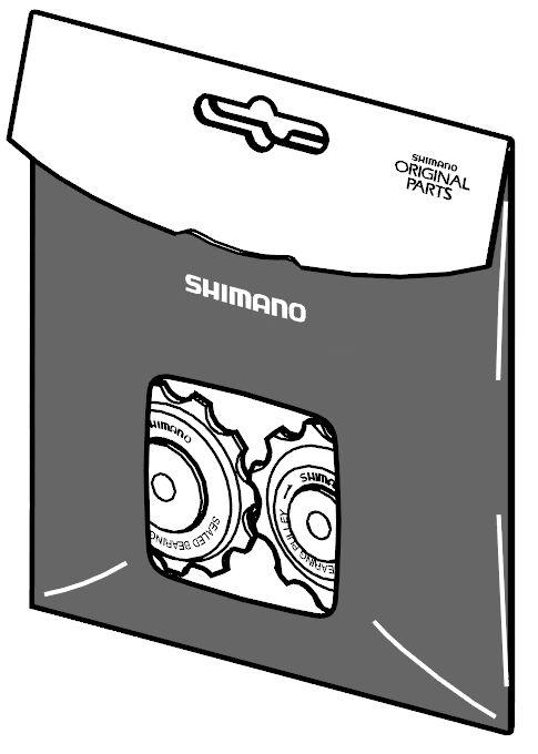Jeu de galets de dérailleur Shimano.