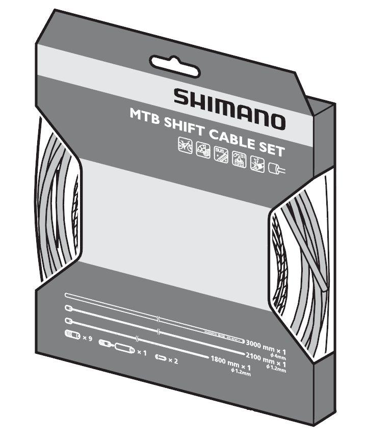 Jeu de câbles Shimano OT-SP41 pour dérailleurs de VTT.