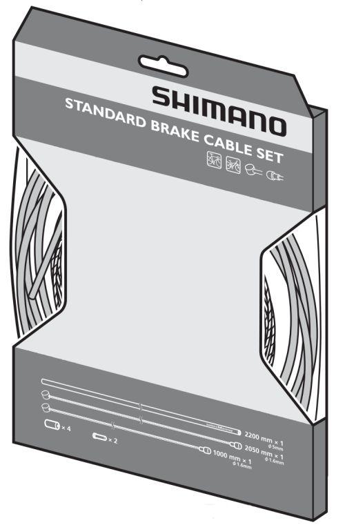 Kit câbles Shimano standard pour freins.