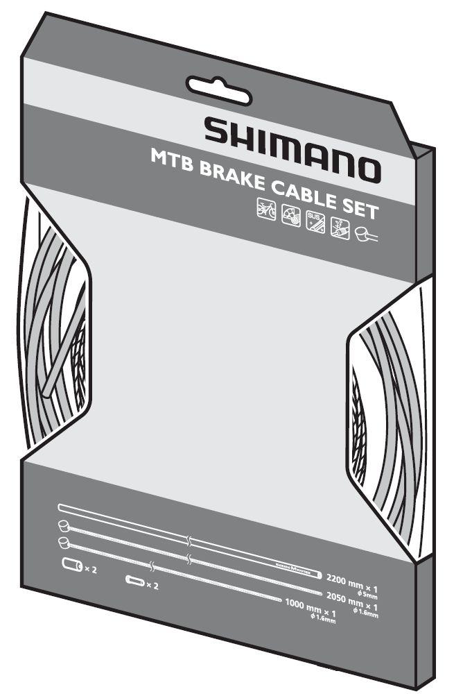 Jeu de câbles Shimano pour freins de VTT.
