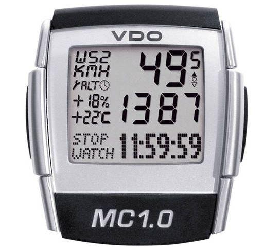 Compteur de vélo VDO MC 1.0 avec fil