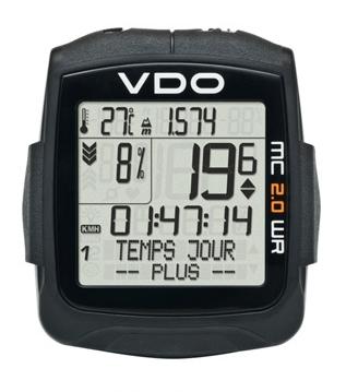 Compteur de vélo VDO MC 2.0 WR avec fil