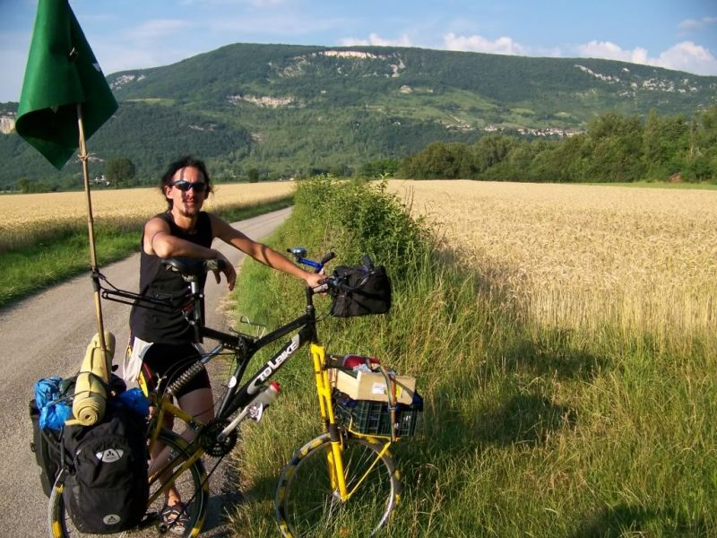 Tallbike de voyage.