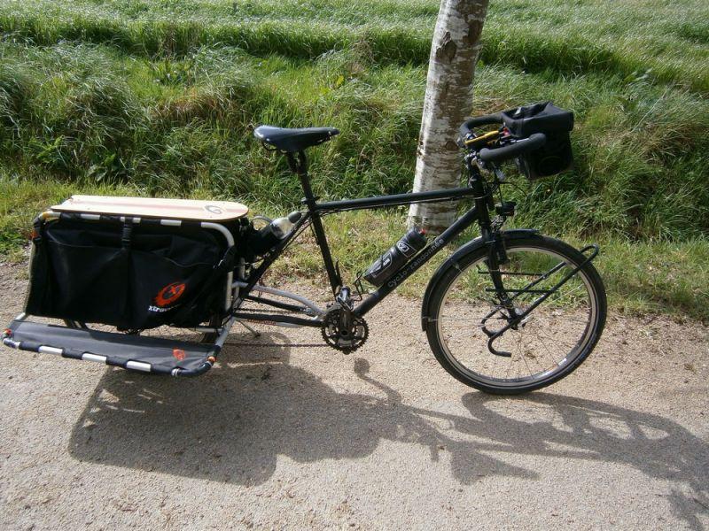 Vélo Cyclo-randonnée en vélo-cargo.