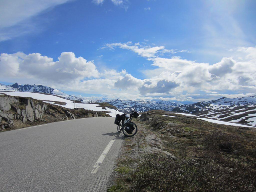 Voyage à vélo en Norvège.