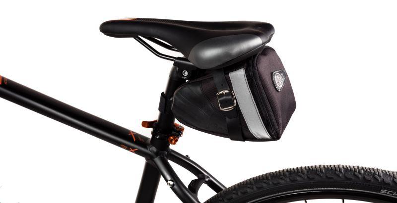 Sacoche de selle Ziggie Bag Big Style montée sur un vélo.