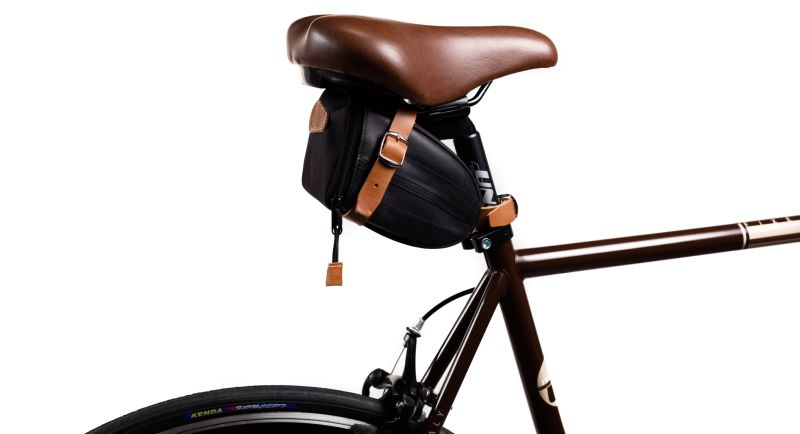 Sacoche de selle Ziggie Bag Spectra montée sur un vélo.